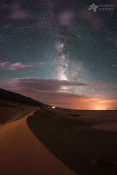 Milky Way Nightscape From Great Sand Dunes National Park