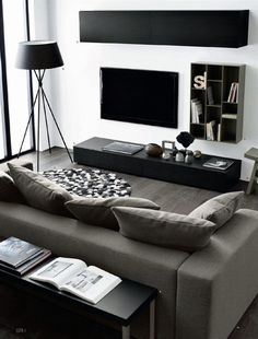 Find Out Modern Living Room Interior And Set Ideas Inspiringly Living Room Modern, Living Room Interior, Home Living Room, Apartment Living, Living Room Furniture, Living Room Designs, Minimal Living, Apartment Design, White Apartment