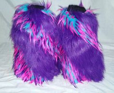 Check out this item in my Etsy shop https://www.etsy.com/listing/201728281/fluffies-cotton-candypurple-furry-leg