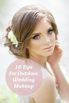 Getting married outside, or attending an outdoor wedding? Avoid a makeup meltdown with our tips to make your look last through the photos..