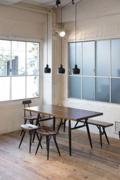 Artek - News & Events - Artek launches jubilee of classic stool in Tokyo Isaloni, Salone del Mobile, fuorisalone, milan Chair Design Wooden, Furniture Design, Wooden Chairs, Interior Architecture, Interior Design, Built In Bookcase, Wooden Diy, Decoration, Dining Chairs