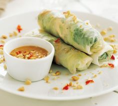 Chicken and Mint Salad Rolls