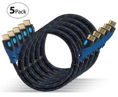 High Speed Hdmi Cables Ethernet Ultra Series  6 Ft 5 Pack Supports 3D Hd Tv Home #Aurum