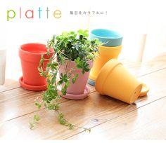 【楽天市場】植木鉢 Platte 【テラコッタ/おしゃれ/インテリア/観葉植物/鉢/プランター/カラフル/素焼き鉢/ペイント】:ガーデニング日和