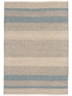 Carefully made from a wool, cotton and viscose blend that is both beautiful and hardwearing, our flat weave rug has been hand woven with a rustic waved edge and unique details. With blended grey, cream and blue colours, our Stripe Rug will brighten up your space and looks perfect on wooden, stone or laminate flooring.