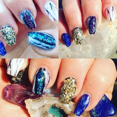 Marble and stone nails by Nails by Mandee/ Mandee Umbenhower