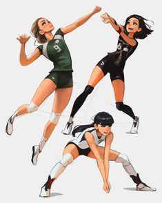 Art Poses, Drawing Poses, Gesture Drawing, Cute Art Styles, Cartoon Art Styles, Volleyball Poses, Hiro Big Hero 6, Poses References, Digital Art Girl