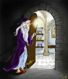 Dumbledore and the Room of Requirement By deviantart user: TomScribble