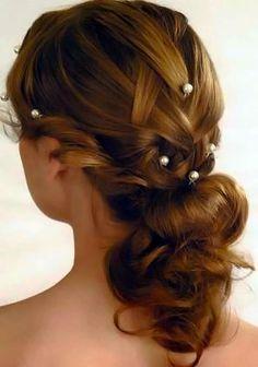 Long bridal/wedding hair