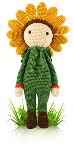 Sunflower Sam - crochet and amigurumi doll pattern by Zabbez