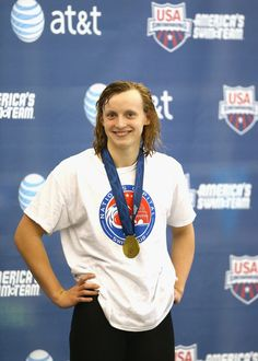 Katie Ledecky Photos - USA Swimming AT&T Winter National Championships: Day 1 - Zimbio Katie Ledecky, Usa Swimming, Olympic Swimmers, American Legend, National Championship, Olympics, Winter, Photos, Winter Time