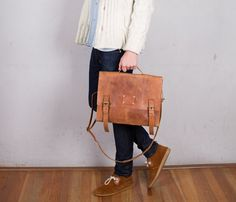 Dirty Harry Leather Bag-Camel Uncovet