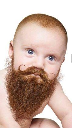 Portrait of expressive baby with beard Barber Shop Game, Barber Shop Decor, Barber Poster, Barber Logo, Best Beard Oil, Barbers Cut, Barbershop Design, Beard Humor, Kids Around The World
