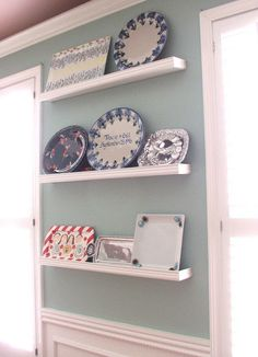 platter wall shelving Idea