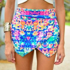skirt pattern colors irregular skirt shorts shirt colour rainbow skort pink blue geometric diamonds print hipster multicolored skort colorful envelope clutch envelope skirt edgy girly multi colored mini colorful yellow triangle pattern desperate pointy point shorts mini skirt pattern