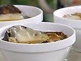 Guinness and Onion Soup with Irish Cheddar Crouton  Recipe courtesy Michael Chiarello