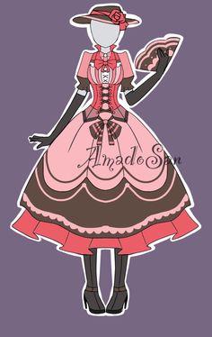Victorian outfit adoptable Open by AS-Adoptables.deviantart.com on @DeviantArt