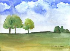 Original Watercolor Landscape Painting by SusanWindsor on Etsy.