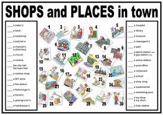MY ESL WORLD: WORKSHEET-PLACES IN TOWN