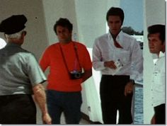 During a holiday to Hawaii in May 1968, Elvis, Priscilla, Joe Esposito, Charlie Hodge visit the memorial.