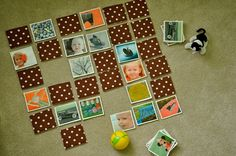 no big dill: A Personalized Memory Game. i think it looks easier (and more personalized) than the fabric memory game i made last year. Craft Activities For Kids, Toddler Activities, Games For Kids, Crafts For Kids, Preschool Ideas, Book Crafts, Diy And Crafts, Fun Projects, Sewing Projects