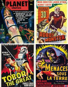 ZAP! 27 Vintage Sci Fi Damsels In Distress | WebUrbanist