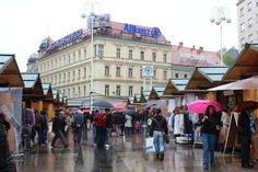 Open market in Ban Jelacic Square