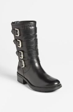 Black buckle up boots, love the buckles.