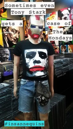 insannequins — Sometimes even Tony Stark gets a case of The. Bangkok Thailand, Tony Stark, Mondays, Mens Tops, T Shirt, Fashion, Supreme T Shirt, Moda, Tee