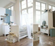 Babykamer wit groen