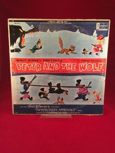 Disneyland Record Peter and The Wolf / The Sorcerer's Apprentice 1963 LP
