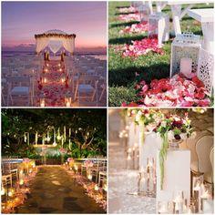 mariage lumineux allee ceremonie
