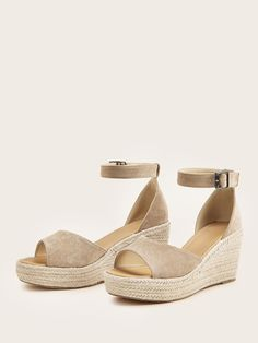 Shop [good_name] at ROMWE, discover more fashion styles online. Romwe, Street Style Edgy, Vintage Style Outfits, Huaraches, Business Casual, Autumn Fashion, Boho Fashion, Open Toe, Ankle Strap