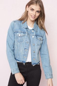 Real Blue Frayed Denim Jacket