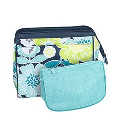 Two bags in one! The Cosmetic Bag Set features a larger bag in one of our exclusive prints, paired with a smaller bag in a coordinating patt...