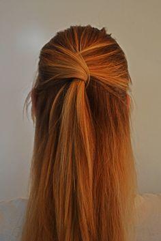 Petite amie, halve staart #halvestaart #hairtutorial #haaropsteken