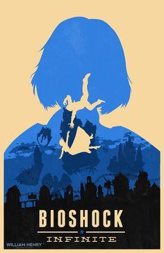 Bioshock Infinite Elizabeth blue variant poster by billpyle.deviantart.com on @DeviantArt