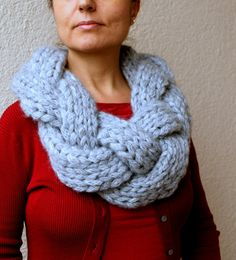 Winter Accessories / Infinity Scarf / Braided Scarf by warmandsoft, $85.00