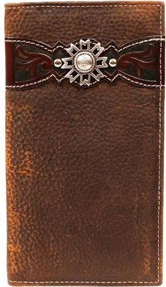 b043d5c4acce9 (MFWA3514202) Western Brown Rodeo Wallet with Rowel Concho Belt Purse