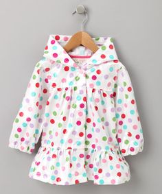 Look what I found on #zulily! Pink Polka Dot Raincoat - Infant, Toddler & Girls #zulilyfinds