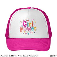 Daughters Girl Flower Power Hat by Mini Brother