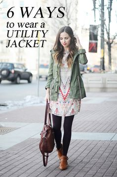 A versatile jacket, like this utility jacket is an essential for every woman's spring wardrobe! Check out 6 easy ways to style it for spring!