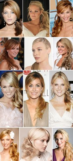 Bridesmaids all have diff styles of low side pony?  Will keep everyone's hair from blowing crazy in beach breeze ;)