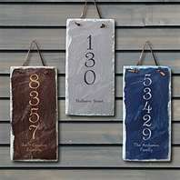 house numbers painted on slate!!!  I LOVE THIS!!!