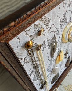 Jewelry Organizer Display, #organizer  Earring and Necklace Holder. $34.00 USD, via Etsy.  Original concept and design by Humble Bee Project