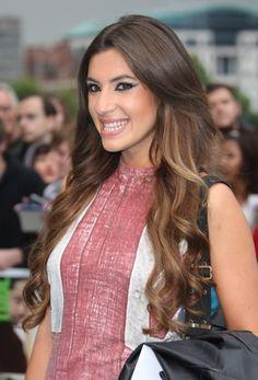 Gabriella Ellis spiraled hairstyle