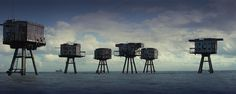 Maunsell Army Sea Forts, The Thames Sea Defences, Red Sands Sea Fort And Shivering Sands Fort