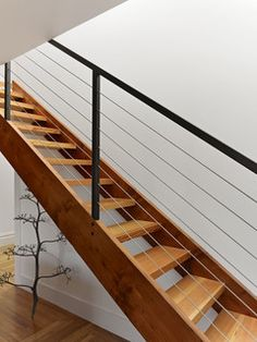 Master Suite Remodel - modern - Staircase - San Francisco - Neill and Lee Contractors Staircase Remodel, Staircase Railings, Staircase Design, Staircases, Staircase Ideas, Banisters, Outdoor Railings, Wood Handrail, Basement Stairs