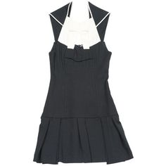 Pre-owned Roland Mouret Linen Mid-Length Dress ($252) ❤ liked on Polyvore featuring dresses, black, pre owned dresses, linen dresses, mid length cocktail dresses, roland mouret dress and roland mouret