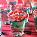 """itspartyrehab: """" Colorful Pop Rock Kamikaze Shots Ingredients & Measurements: Vodka Triple Sec Lime Juice Food Dye Pop Rocks Vanilla Frosting Instructions: Add a few drops of food coloring to a bottle of Triple Sec. A little goes a long way. Snacks Für Party, Party Drinks, Fun Drinks, Yummy Drinks, Alcoholic Drinks, Yummy Food, Yummy Shots, Fruity Mixed Drinks, Liquor Drinks"""